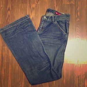 Express X2 Denim Lab Flare leg jeans